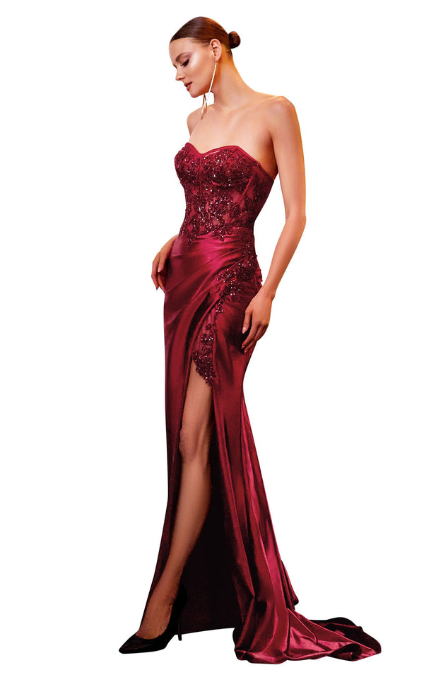 Cinderella Divine CDS406 Dress Burgundy
