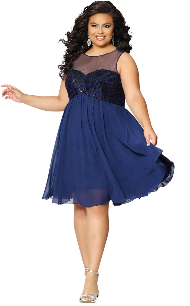Sydneys Closet CE1817 Dress Navy