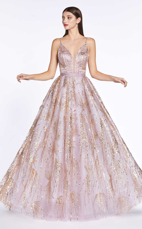 Cinderella Divine CZ0016 Dress Rose-Gold