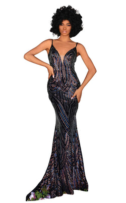 Clarisse 800295 Dress Iridescent-Black