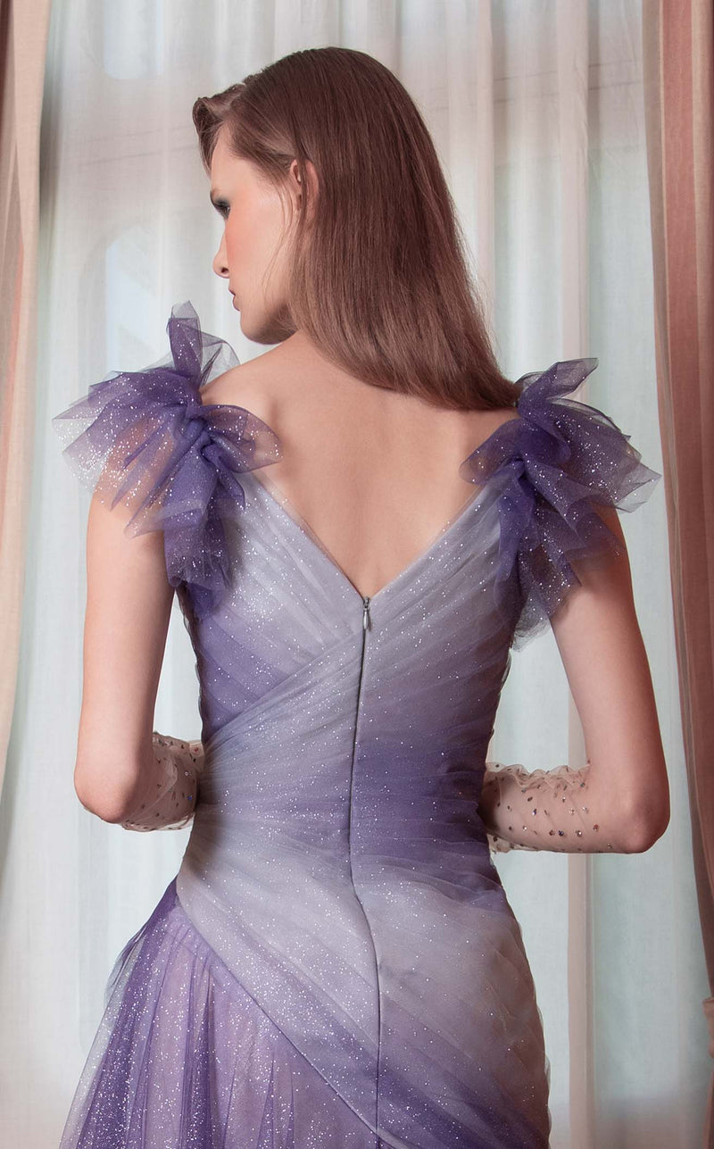 Beside Couture ED1539LD Dress Purple-Grey