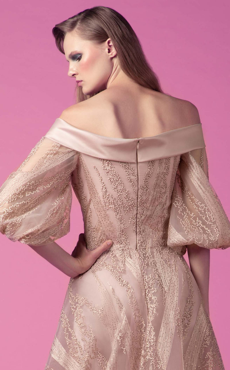 Beside Couture ED1543LD Dress Powder-Pink
