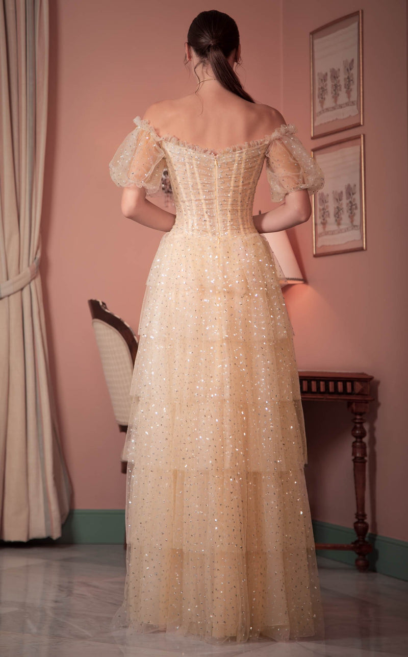 Beside Couture ED1554LD Dress Champagne