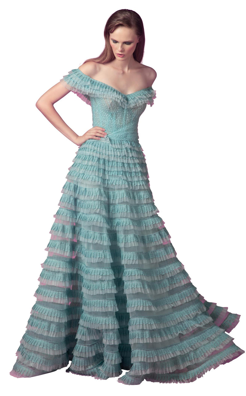 Beside Couture ED1561LD Dress Teal