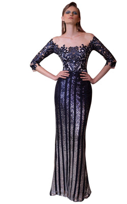Beside Couture ED1570LD Dress Navy