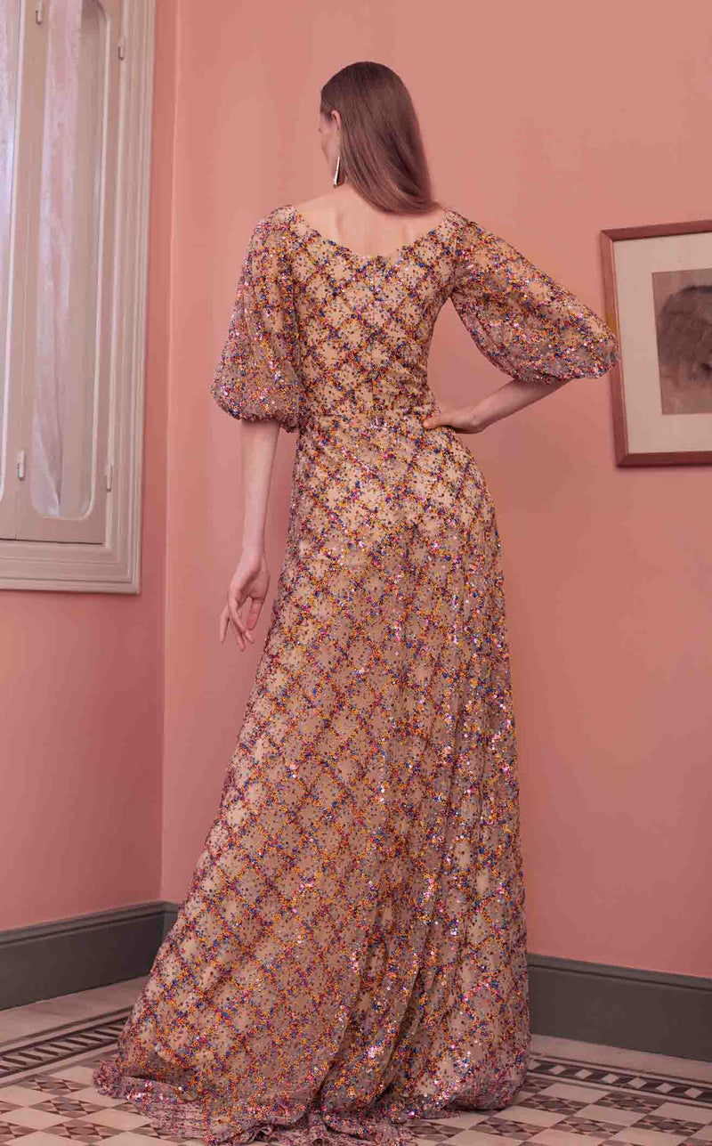 Beside Couture ED1584LD Dress Nude-Sequins