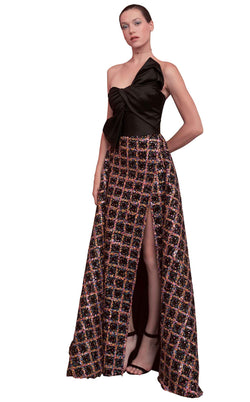 Beside Couture ED1585LD Dress Black-Sequins