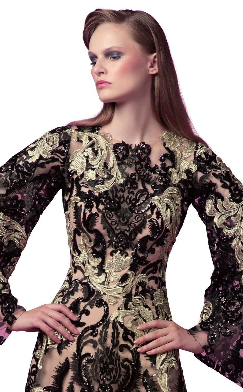 Beside Couture ED1587LD Dress Black-Gold