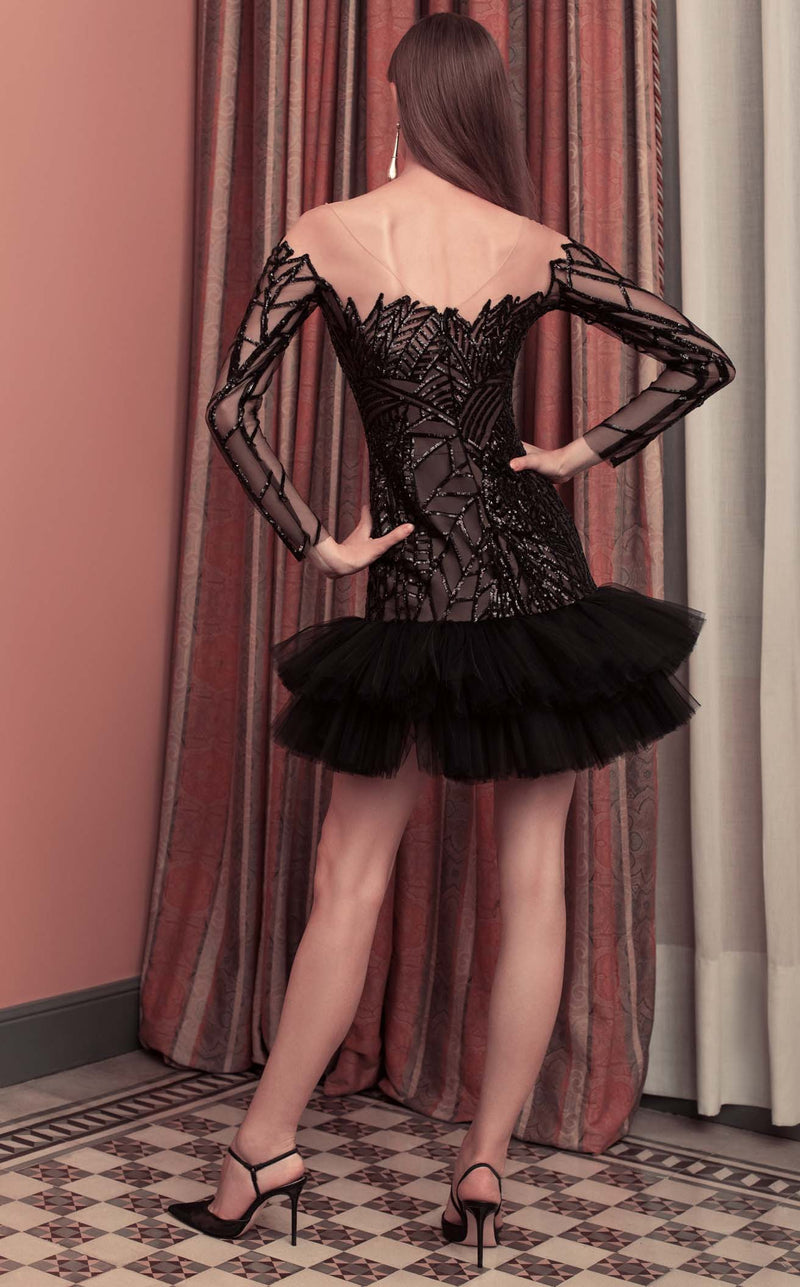 Beside Couture ED1593SD Dress Black