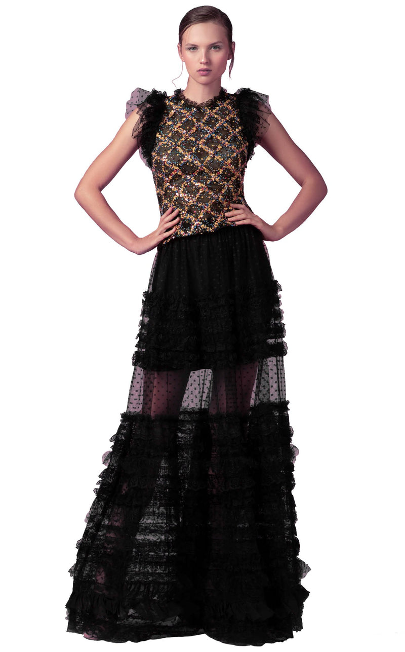 Beside Couture ED160206LK Dress Black-Multicolor