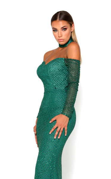 Portia and Scarlett Emerald Gown Dress