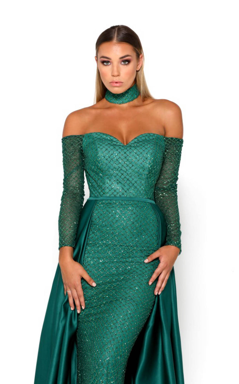 Portia and Scarlett Emerald Gown