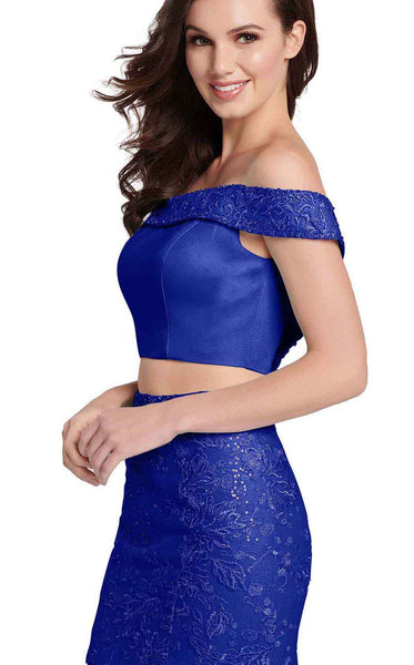 Ellie Wilde EW119036 Royal-Blue