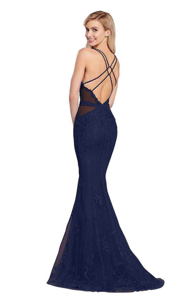 Ellie Wilde EW119047 Navy-Blue