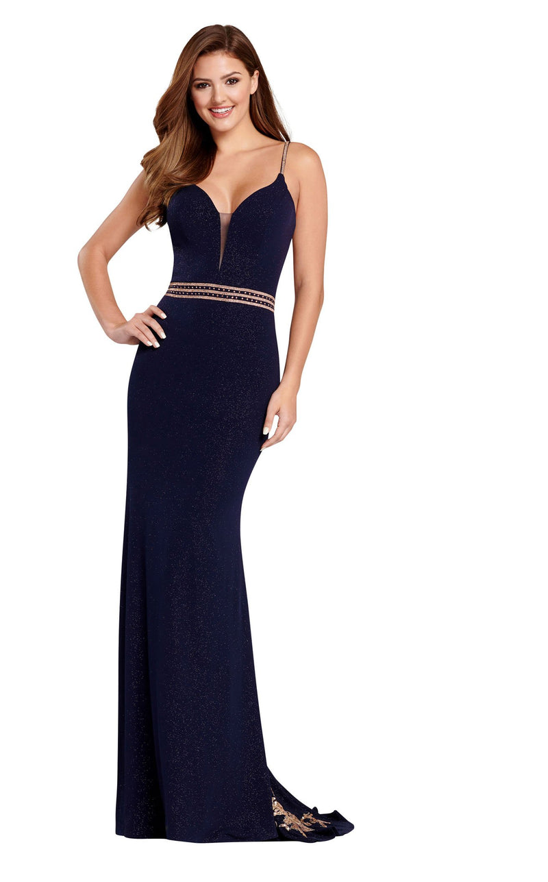 Ellie Wilde EW120103 Navy-Blue-Gold