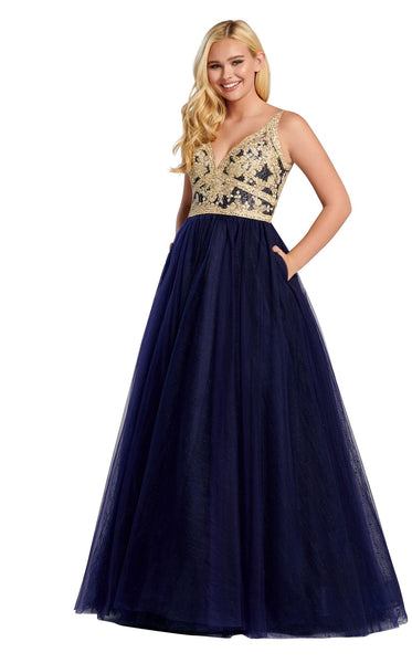 Ellie Wilde EW120140 Navy-Blue
