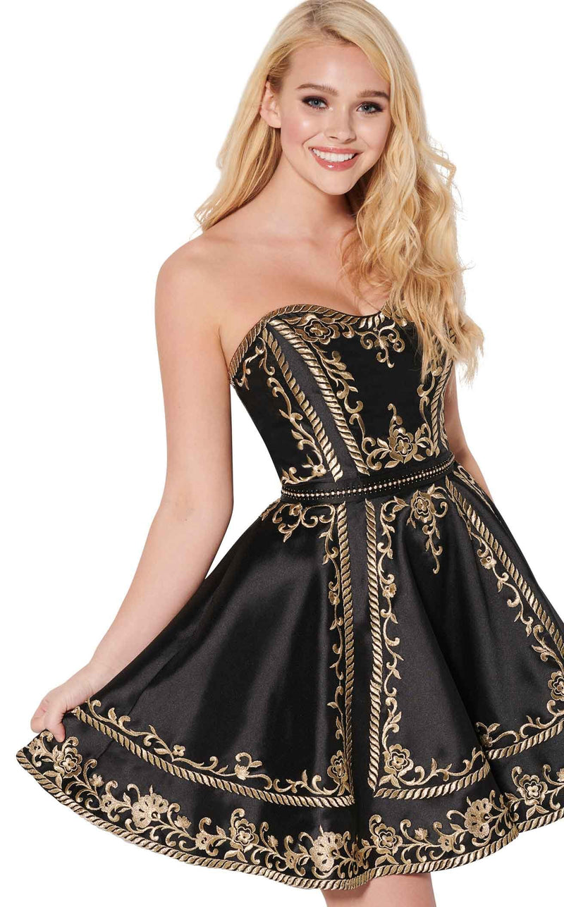 Ellie Wilde EW21948S Black-Gold