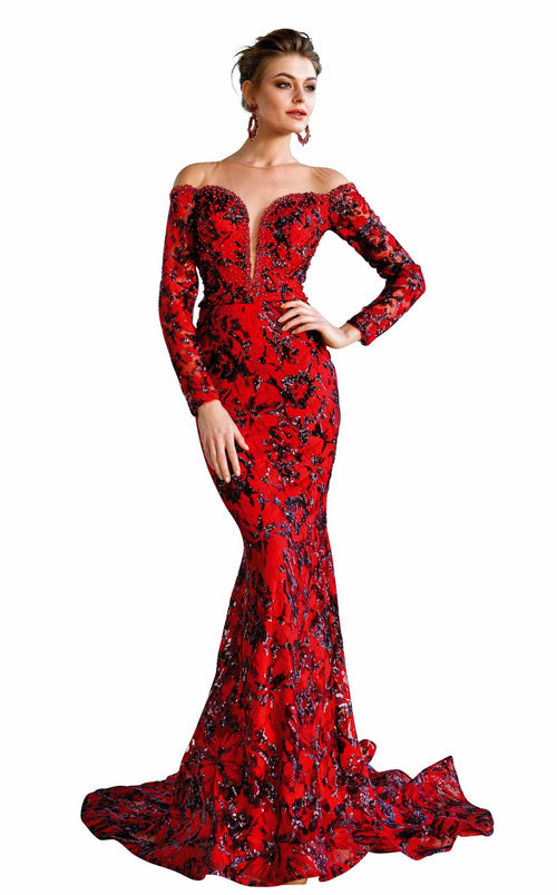 MNM Couture F00564 Red