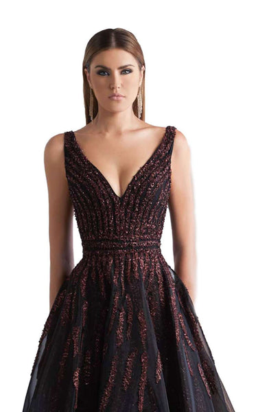 Azzure Couture 1053 Black Burgundy