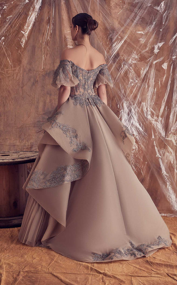 Gatti Nolli Couture GA5098 Dress Nude-Grey