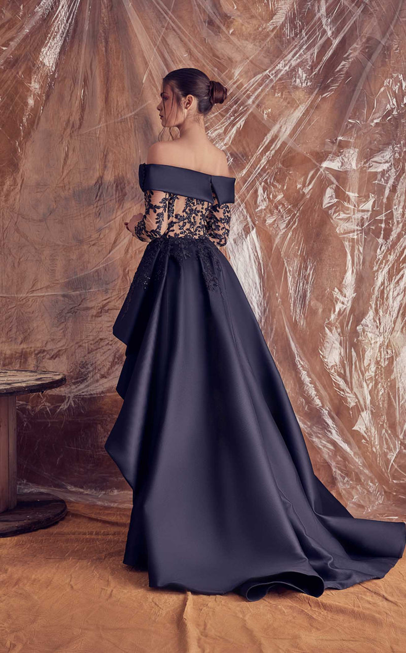 Gatti Nolli Couture GA5105 Dress Black-Nude