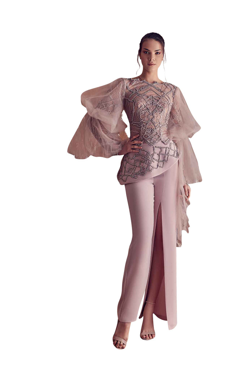 Gatti Nolli Couture GA5126GA5192 Jumpsuit Rose-Grey