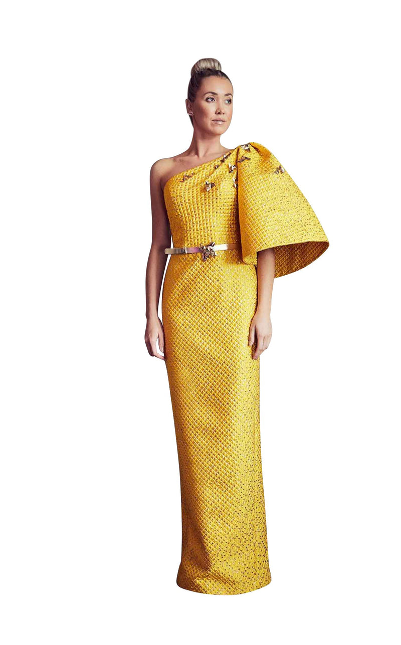 Gatti Nolli Couture GA5267 Dress Yellow-Gold