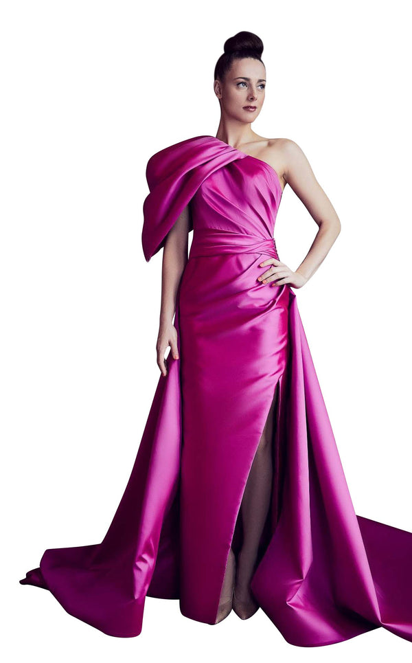 Gatti Nolli Couture GA5301 Dress Dark-Fuchsia