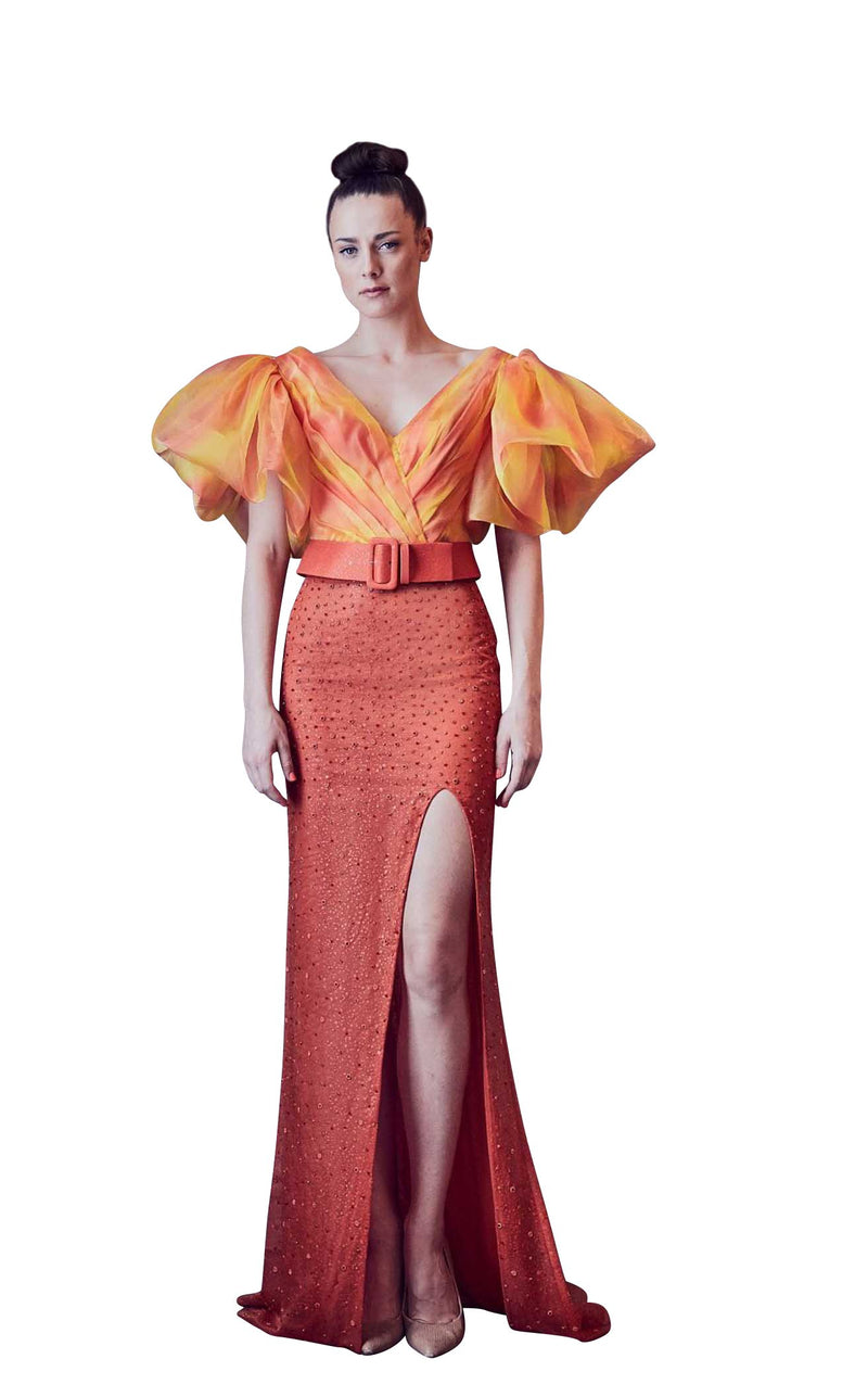 Gatti Nolli Couture GA5313GA5314 Dress Orange-Multi