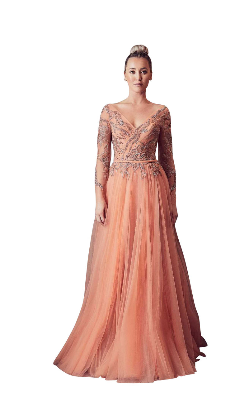 Gatti Nolli Couture GA5373 Dress Peach