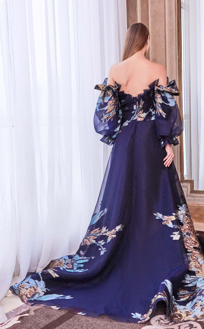 Gatti Nolli Couture GA5789 Dress Navy-Multi