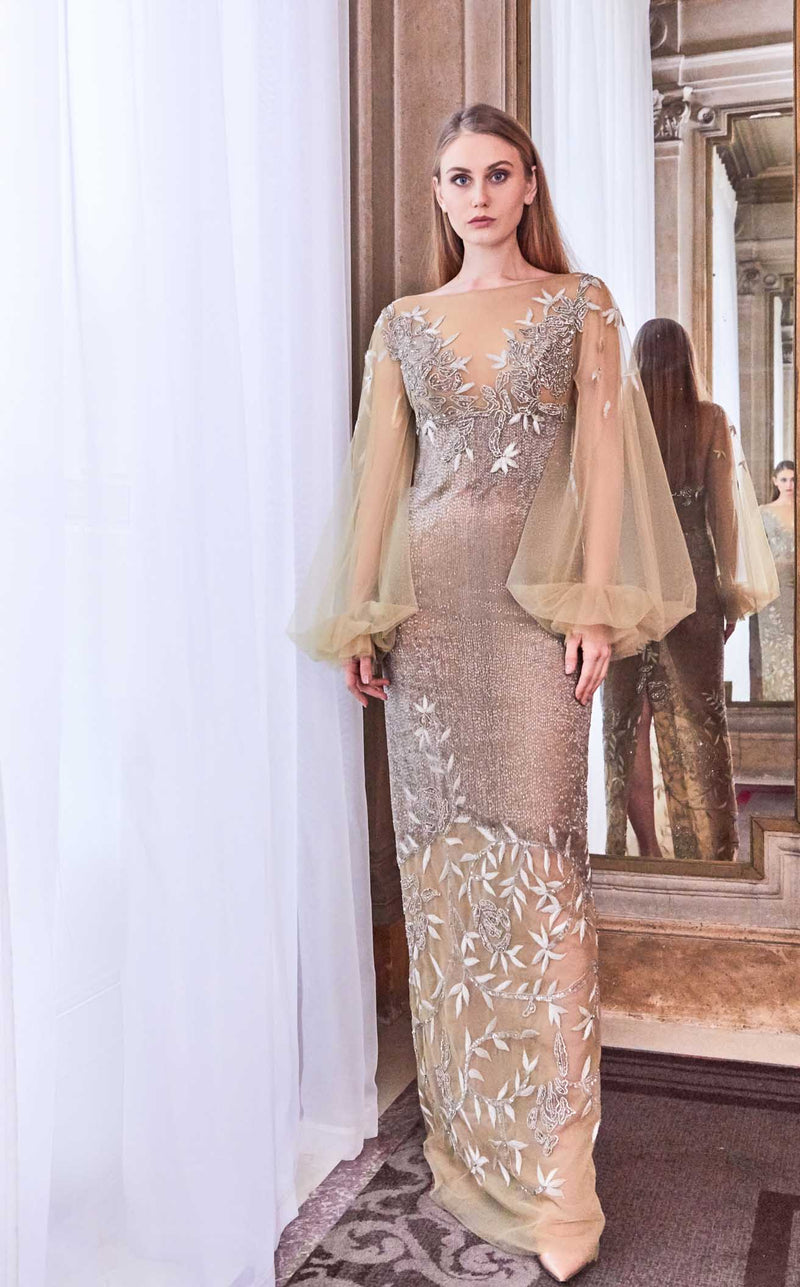 Gatti Nolli Couture GA5800 Dress Nude-Multi