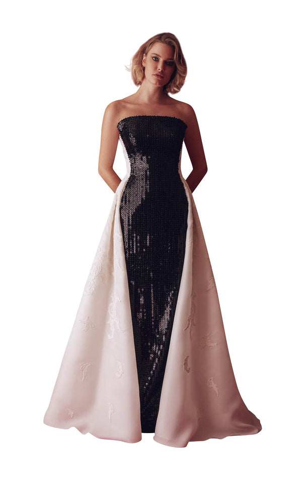Gatti Nolli Couture GAD4940 Dress Black-Ivory