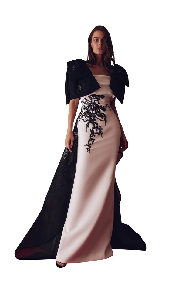 Gatti Nolli Couture GAD4975 Dress Black-Ivory