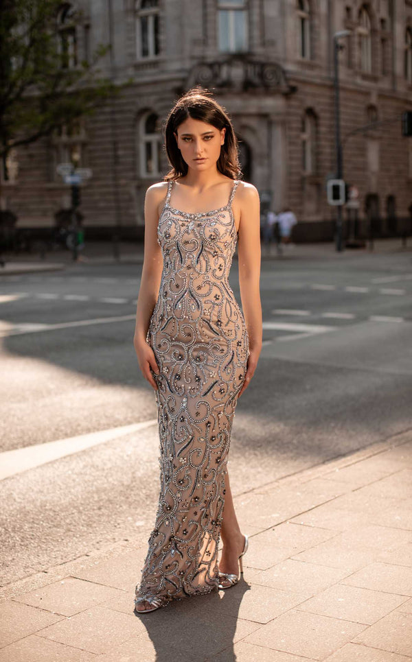 Chic and Holland HF1514 Dress Champagne