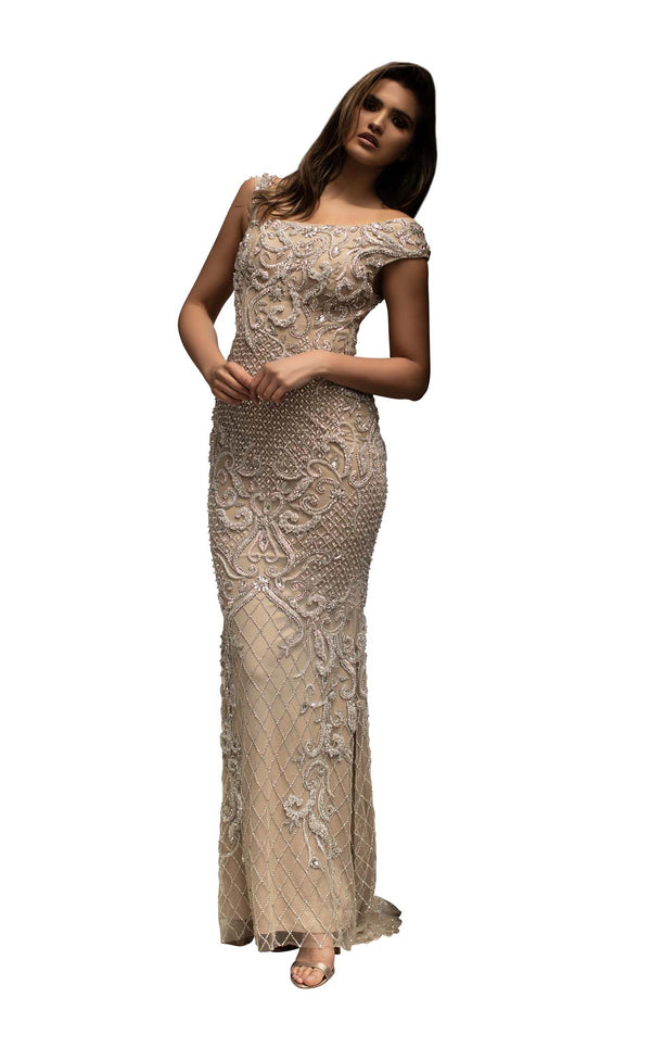 Chic and Holland HF1520 Dress Nude