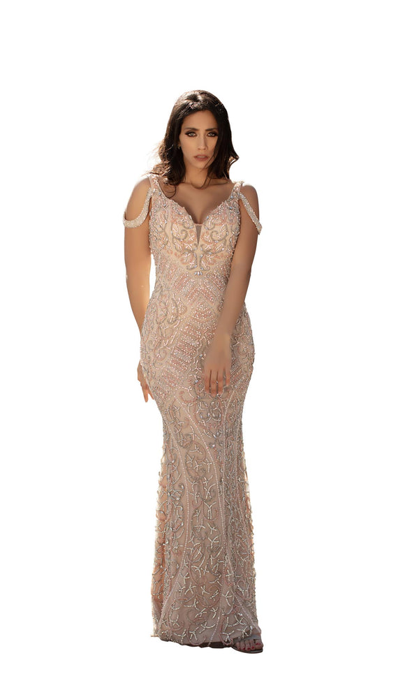 Chic and Holland HF1530 Dress Champagne