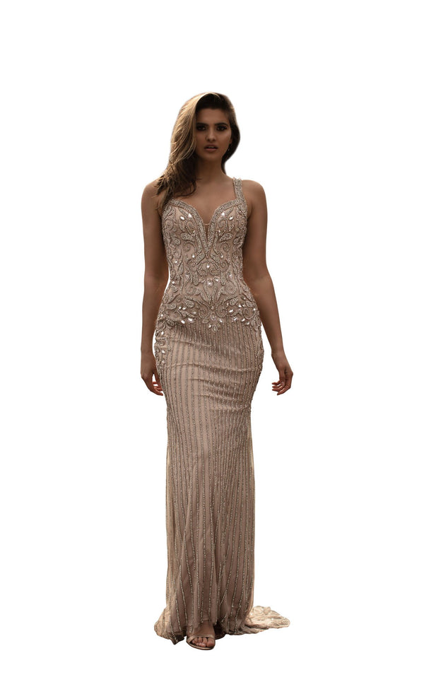 Chic and Holland HF1542 Dress Nude