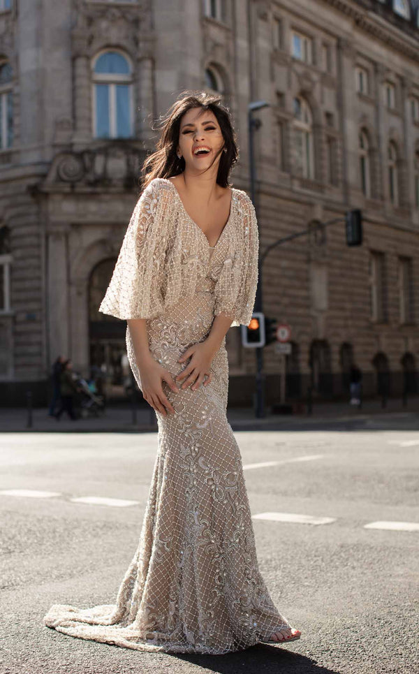Chic and Holland HF1611 Dress Nude