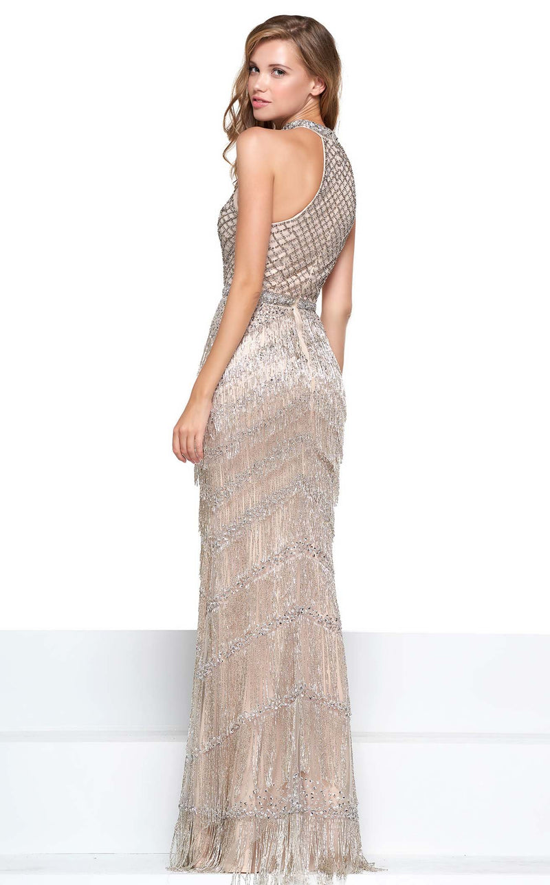 Colors Dress J074 Dress Silver-Nude