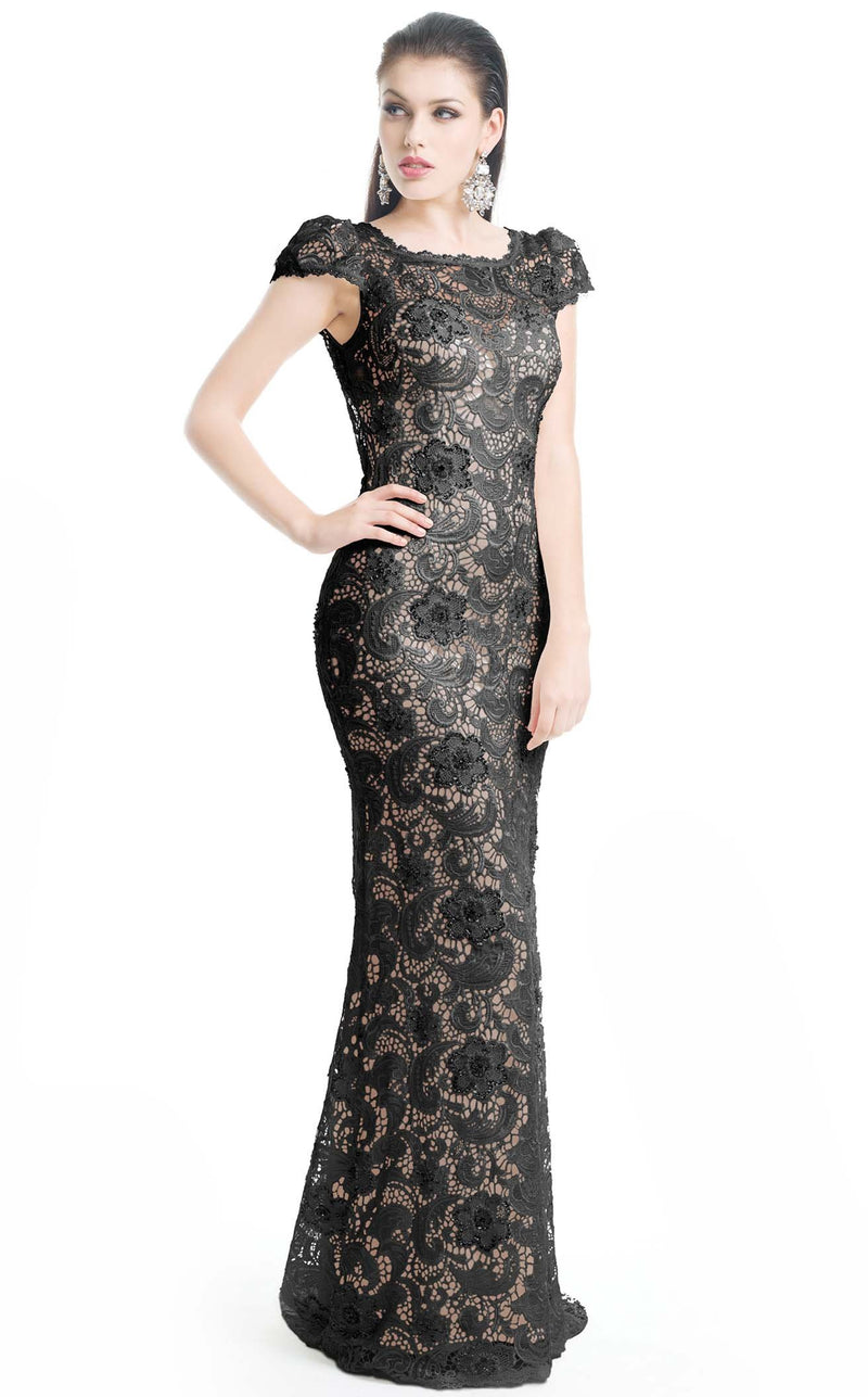 Jadore J5085B Dress Black-Nude