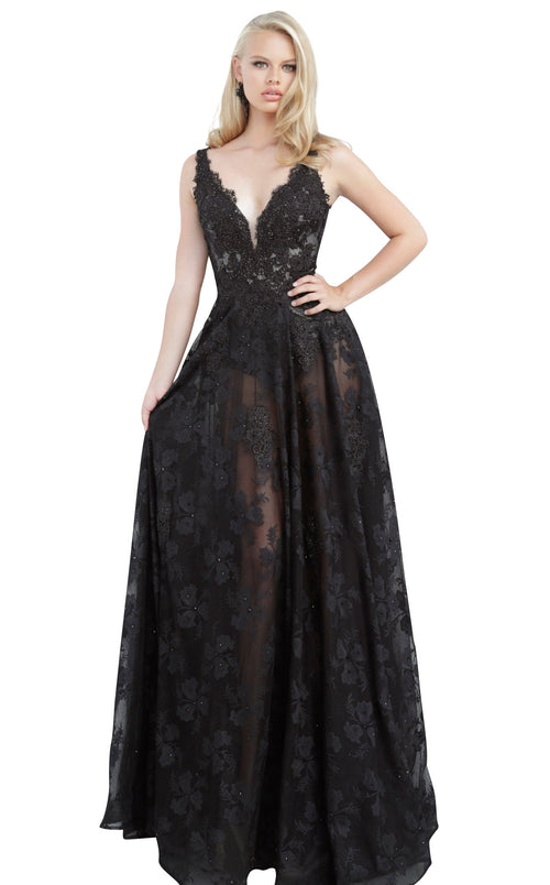 JVN JVN00877 Dress Black