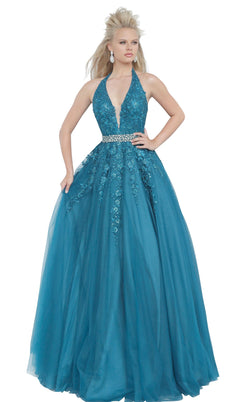 JVN JVN00923 Dress Teal