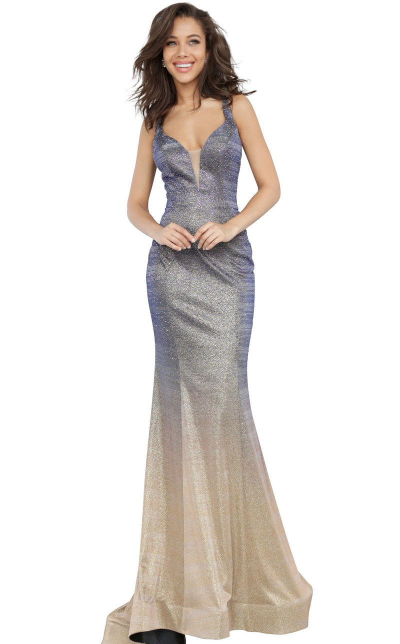 JVN JVN02307 Dress Purple-Gold