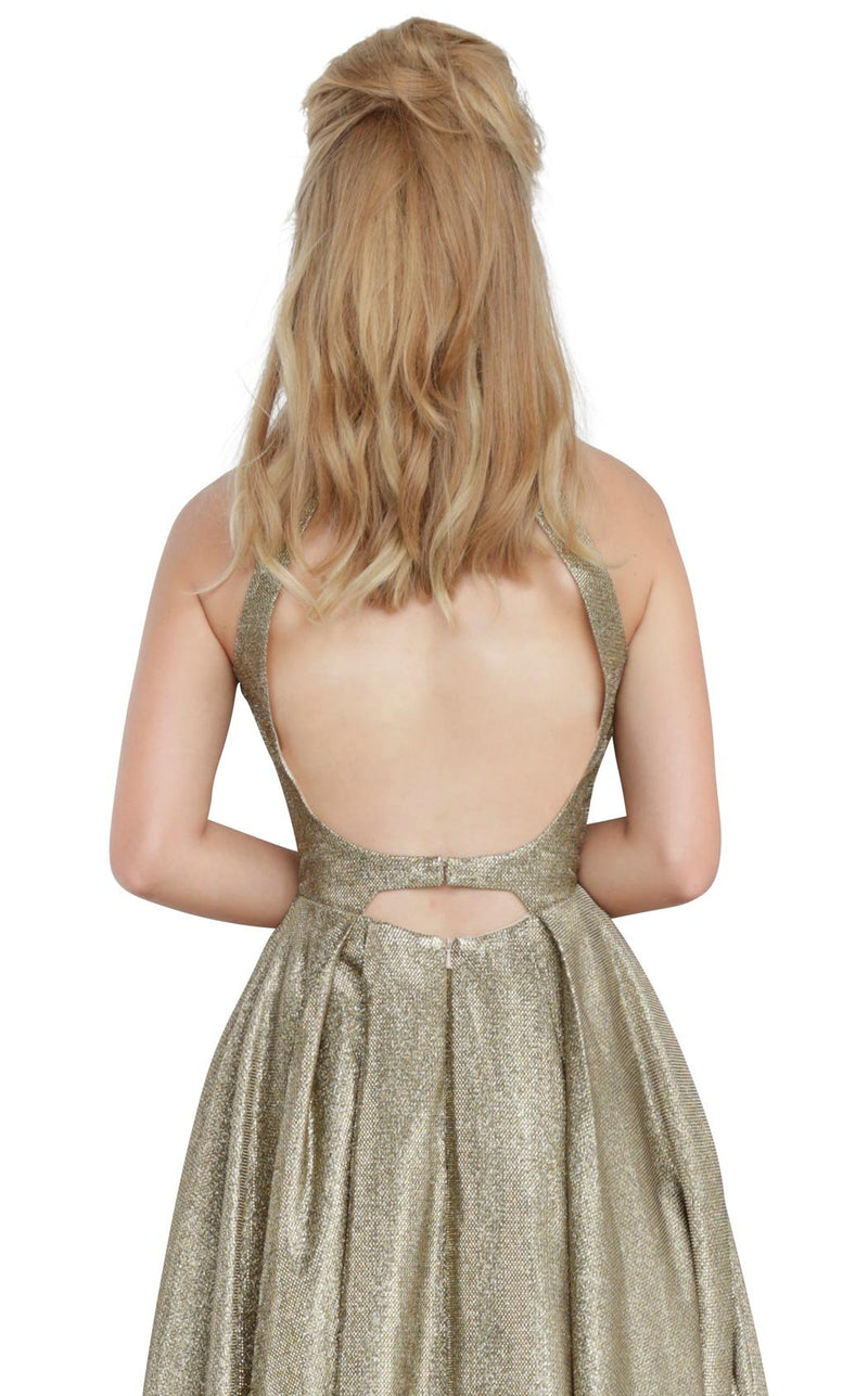 JVN JVN2368 Dress Bronze-Silver