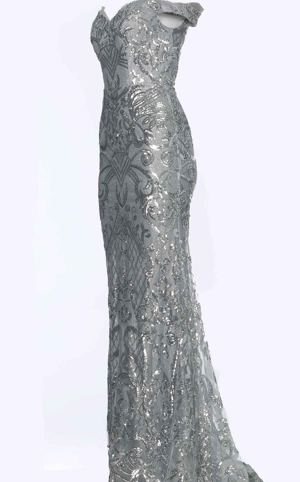 Jovani JVN4296bg Dress Silver