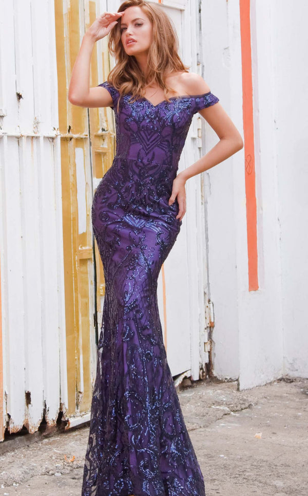 Jovani JVN4296bg Dress Purple