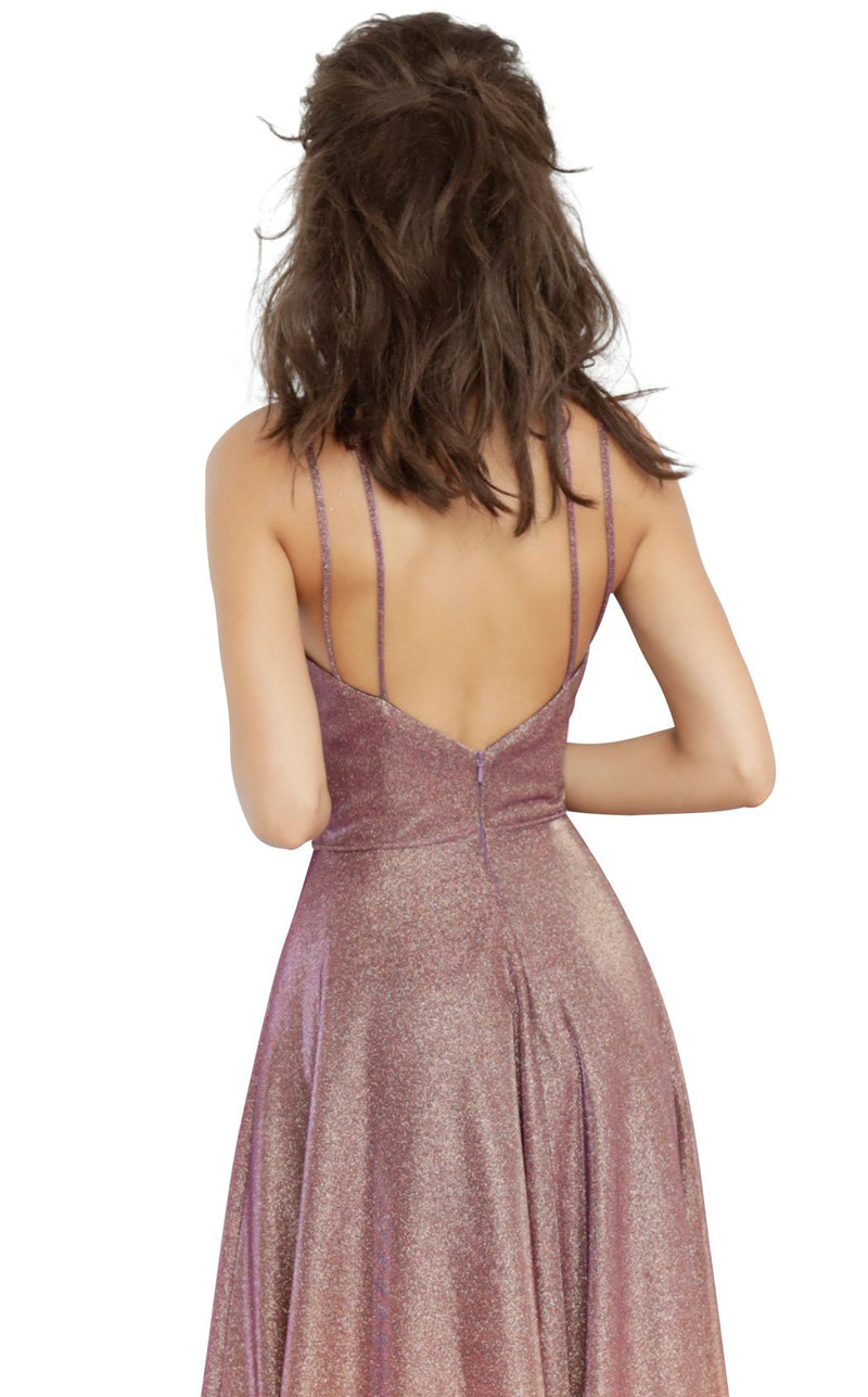 JVN JVN4327 Dress Purple-Gold