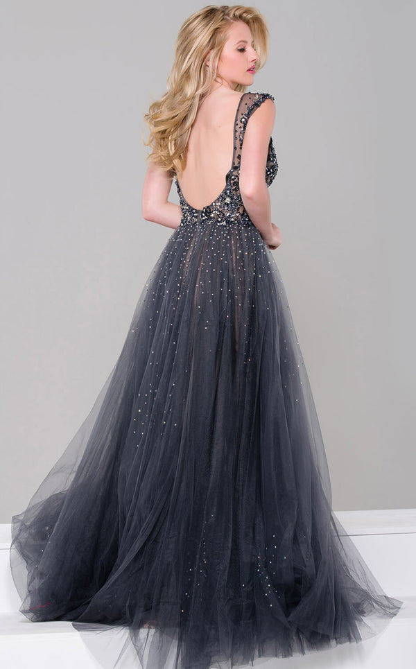 Jovani JVN46081bg Dress Charcoal