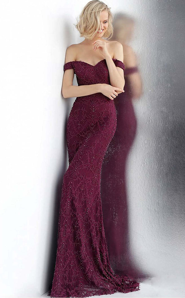 Jovani JVN66695bg Dress Bordeaux